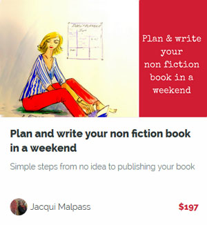 Plan to write your non fiction book in a weekend