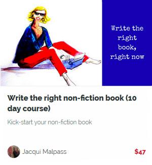 Write the right non fiction book
