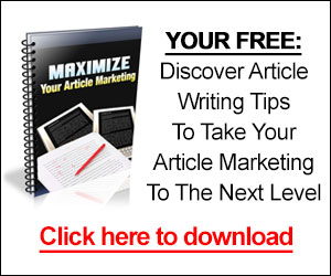 Discover Article Writing Tips To Take Your Article Marketing To The Next Level