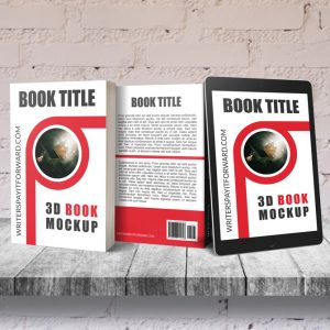 3D Book Mockup Screen Paperback 5x8