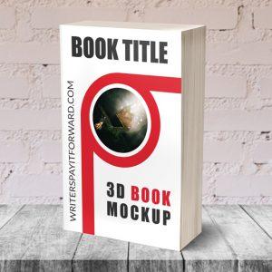 3D Book Mockup Paperback 5x8