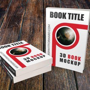 3D Book Mockup Paperback 6x9