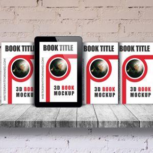 3D Book Mockup Screen Paperback Series