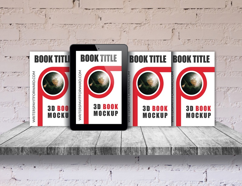 3D Book Mockup Screen Paperback Series