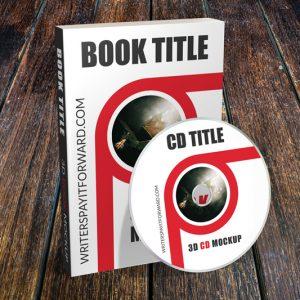 3D Book Mockup CD Paperback 6x9