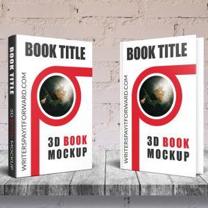 3D Book Mockup Hardcover 6x9