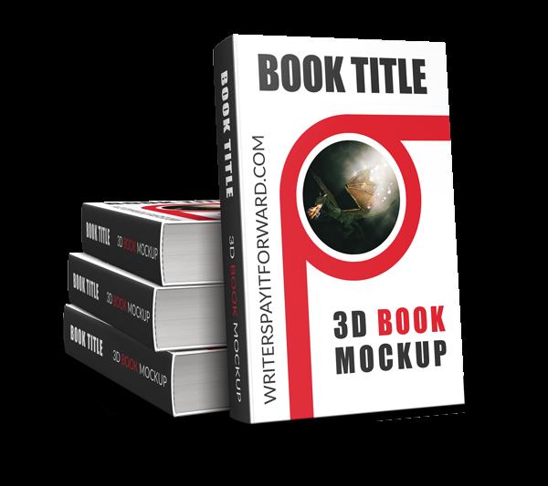 3D Book Mockup Hardcover 5x8