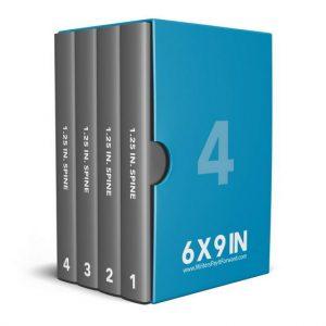 Book Mockup - Boxset 6x9x1.25-BSAJ1-4