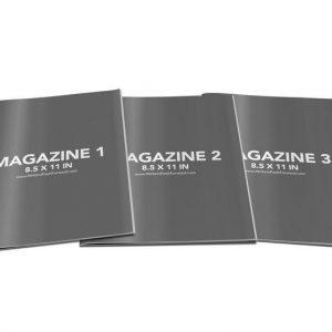 Book Mockup - Magazine 8.5x11-MAG04