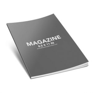Book Mockup - Magazine 8.5x11x0.25-MAG08