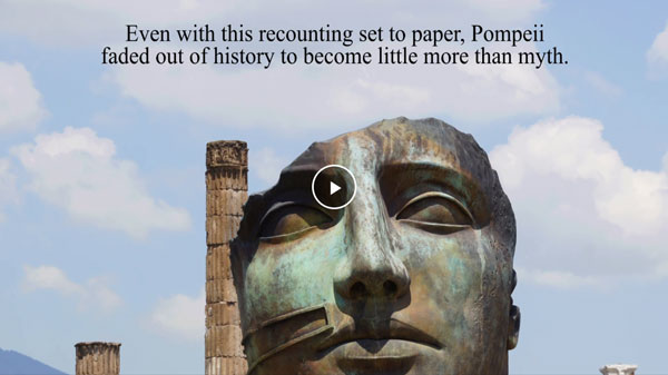 A Life in the Age of Pompeii, Book Trailer